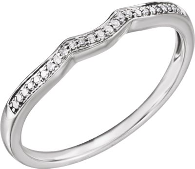 14K White .06 CTW Diamond Band for 4mm Round Ring