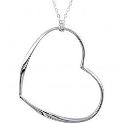 Wave-Style Heart Necklace