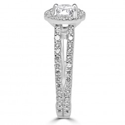14K white gold ring 0.65 ct