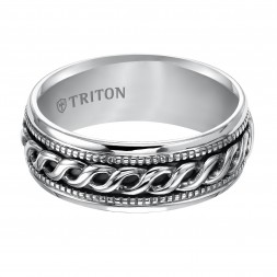 8Mm Sterling Silver Woven Band