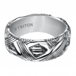 8.5Mm Sterling Silver Woven Band