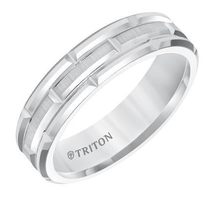 White Tungsten Carbide Ring