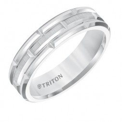 White Tungsten Carbide Ring