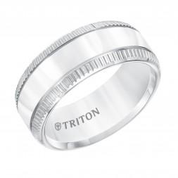 9Mm Comfort Fit White Tungsten  Wedding Band