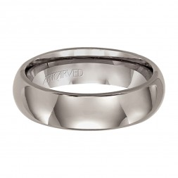 Comfort Fit Titanium Wedding Band With Domed Profile And Bright Finish
