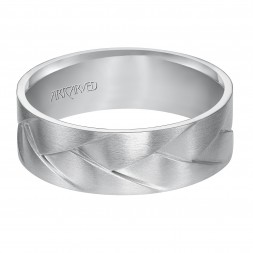 Woven Wedding Band With Satin Finish