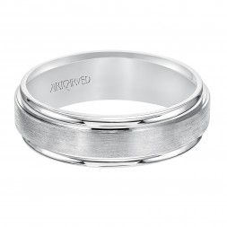 Flat Satin And Bright Finished Flat Edges Comfort Fit Wedding Band