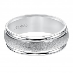 Flat Organic Finished Flat Edges Comfort Fit Wedding Band