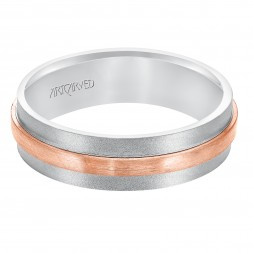 Flat Satin And Soft Sand Finished Flat Edges Comfort Fit Wedding Band