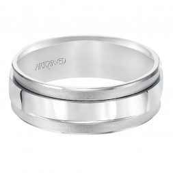 Concave Soft Sand And Bright Finished Bevel Edges Comfort Fit Wedding Band