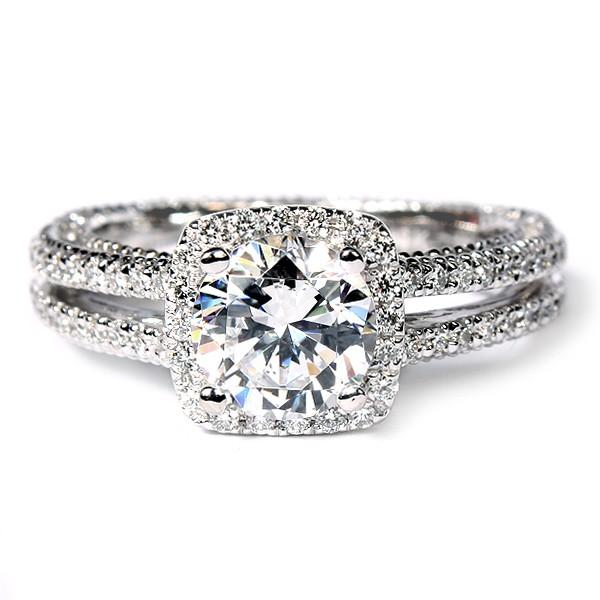 Verragio Venetian Collection 18K White Gold Diamond Semi-Mount Engagement Ring (AFN5007CU4GL)