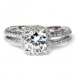 Verragio Venetian Collection 18K White Gold Diamond Semi-Mount Engagement Ring (AFN5007CU4GL)