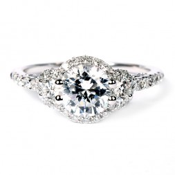 Verragio Insignia Collection 18K White Gold Diamond Semi-Mount Engagement Ring (INS7049DGOLD)