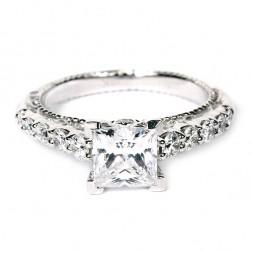 Verragio Venetian Collection 18K White Gold Diamond Semi-Mount Engagement Ring (AFN5010P1GLD)