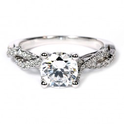 Verragio Insignia Collection 18K White Gold Diamond Semi-Mount Engagement Ring (INS7050RGOLD)