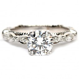 14K White Gold And Diamond Semi-Mount Engagement Ring (D100-0GOLD)