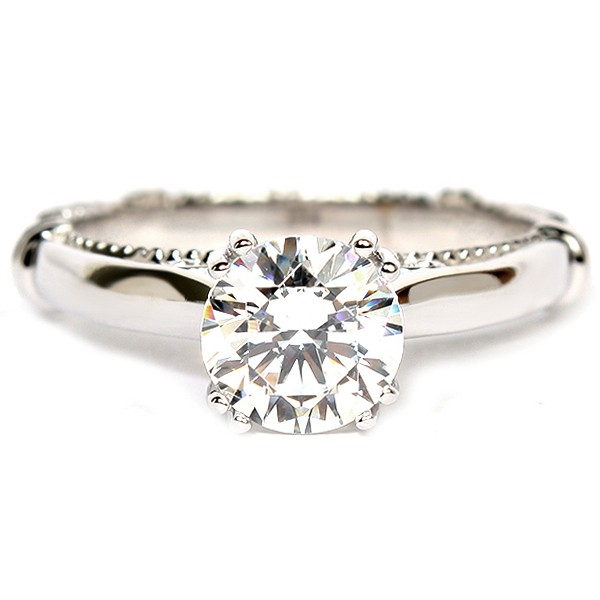 14K White Gold And Diamond Semi-Mount Engagement Ring (D1200GOLD)