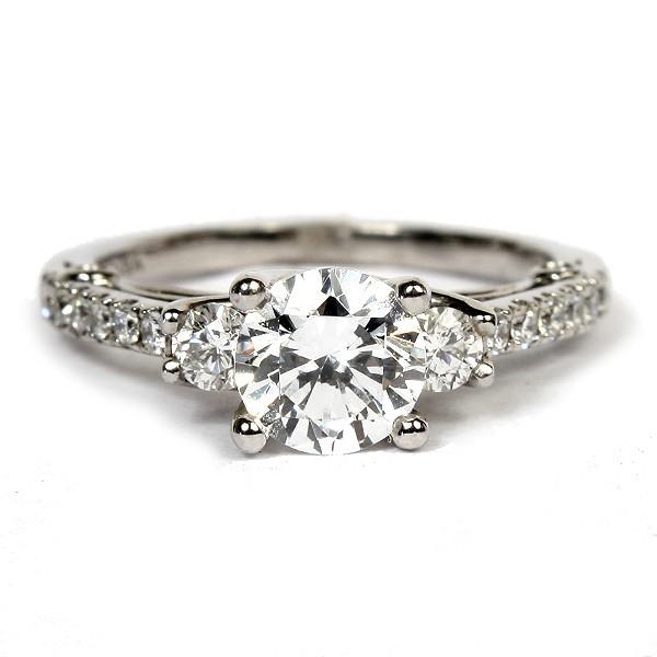 18K White Gold Diamond Semi-Mount Engagement Ring by Verragio (ENG-0397)