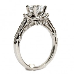 18K White Gold Diamond Semi-Mount Engagement Ring by Verragio (ENG-0397)