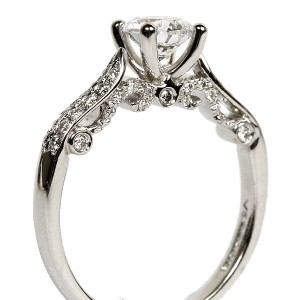 18K White Gold Diamond Semi-Mount Engagement Ring by Verragio (INS-7031)
