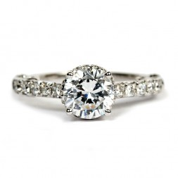 18K White Gold Diamond Semi-Mount Engagement Ring by Verragio (PAR-3075)