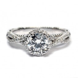 Verragio Parisian Collection 14K White Gold Diamond Semi-Mount Engagement Ring (E106R0GOLD)