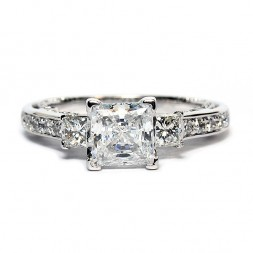 Verragio Insignia Collection 14K White Gold Diamond Semi-Mount Engagement Ring (INS7067PGOLD)