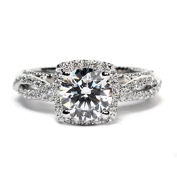 Verragio Venetian Collection 14K White Gold Diamond Semi-Mount Engagement Ring (AFN5006C4GOLD)