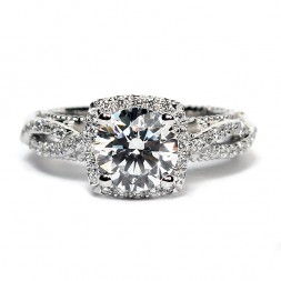 Verragio Venetian Collection 14K White Gold Diamond Semi-Mount Engagement Ring (AFN5006C4GOLD)