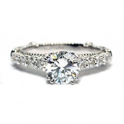 Verragio Parisian Collection 14K White Gold Diamond Semi-Mount Engagement Ring (D1160GOLD)