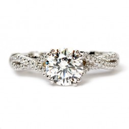 14K White Gold Diamond Semi-Mount Engagement Ring by Verragio