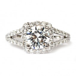 Insignia Diamond Semi-Mount Engagement Ring by Verragio (INS7046GOLD)