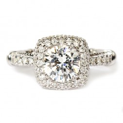 Parisian Diamond Semi-Mount Engagement Ring by Verragio (D133CUDGOLD)