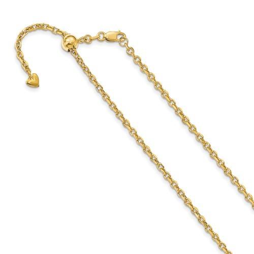 Adjustable Diamond Cut Cable Chain (22