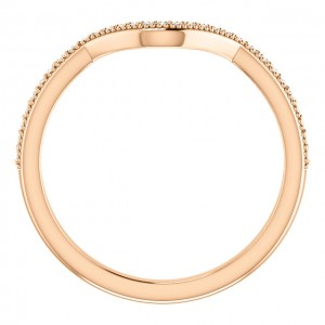 14K Rose Round .14 CTW Diamond Band