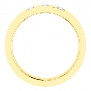 Men's 18 Karat Yellow Gold Diamond Ring