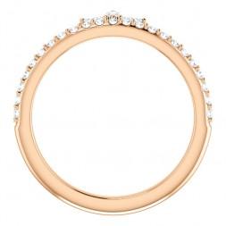 14K Rose 1/3 CTW Diamond Stackable Crown Ring