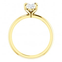 14kt Yellow gold 1.33 Ct Oval Moissanite Engagement Ring