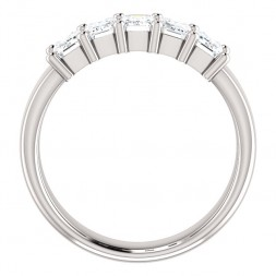 14K White 1 5/8 CTW Diamond Anniversary Band