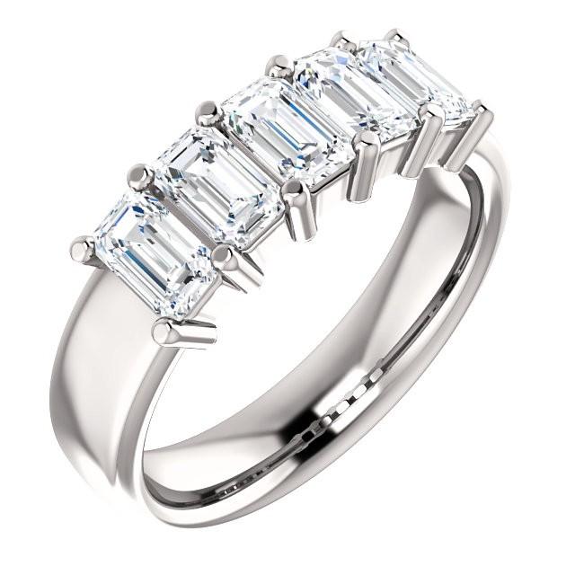 14K White 1 5/8 CTW Diamond Anniversary Band