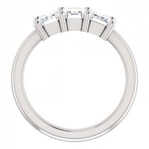 Three Emerald Cut 1 3/4 CTTW  Diamond Ring