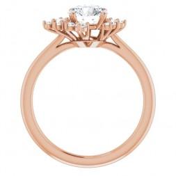 14K  Rose Gold Lab-Grown Diamond  Engagement Ring (1.00ctw)