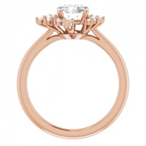 14K  Rose Gold Lab-Grown Diamond  Engagement Ring (1.00ctw)