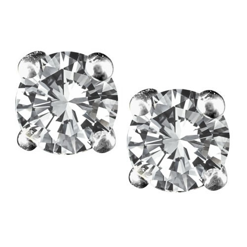14K White Gold Diamond Stud Earrings With 0.5 Ct. Total Weight