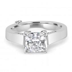 White 14 Karat Affection Semi-Mount Ring With 0.33Tw Round Diamonds