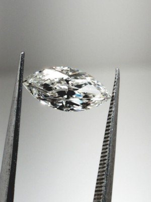 H color, SI1 clarity Marquise 1.07 -Carat Diamond