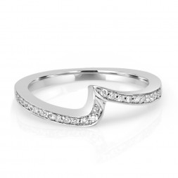 White 14 Karat Clarity Semi-Mount Ring With 0.25Tw Round Diamonds