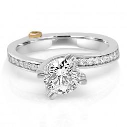 White 14 Karat Beloved Semi-Mount Ring With 0.01Tw Round Diamonds