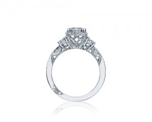3/4 Ct Br Cntr W/ 2 0.10Ct Br Sides W/Halo & Br Sh