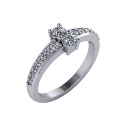 TWO STONE RING